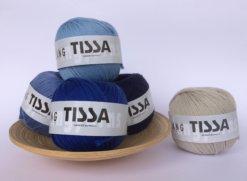 schoenstricken Langyarnswolle Tissa Blau